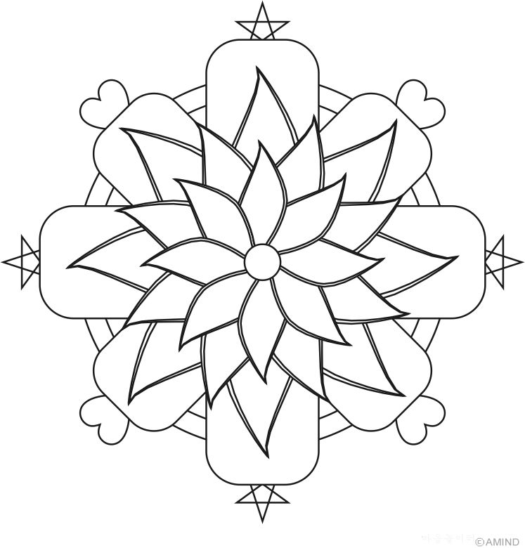 Simple Flower Mandala Coloring Pages