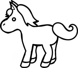 Simple pony coloring page
