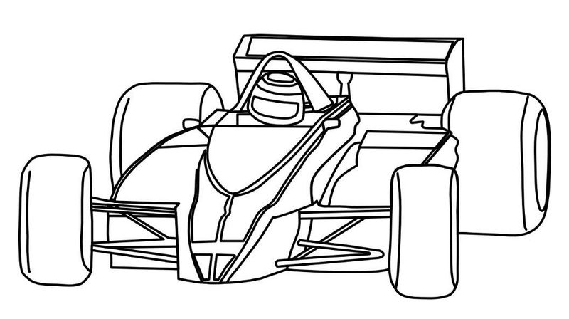 Simple Race Car Coloring Page
