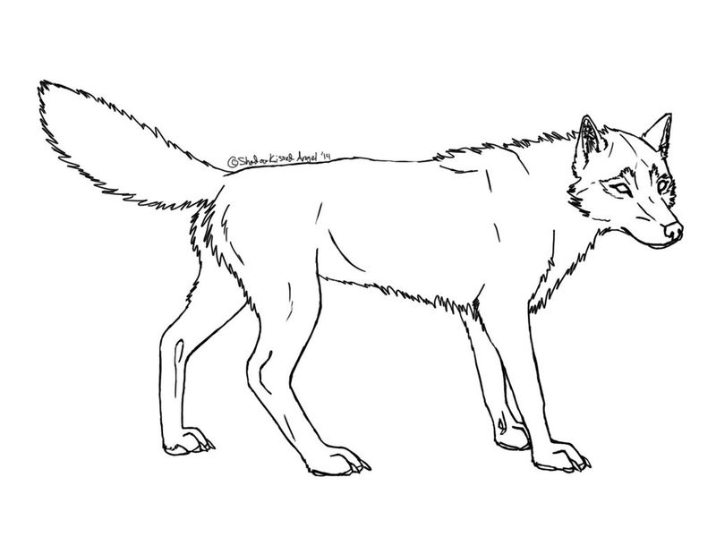 Simple Wolf Coloring Pages