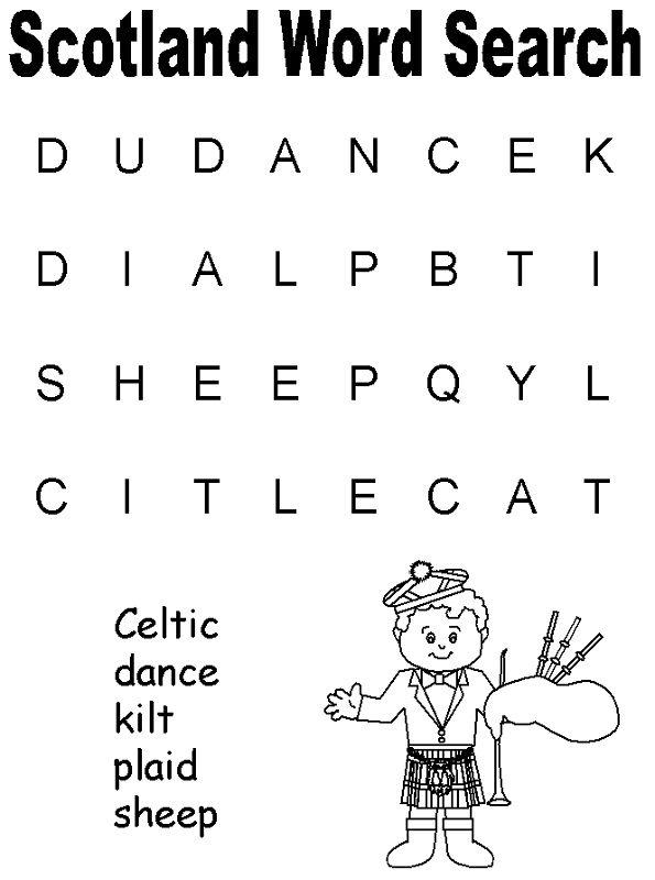 Simple Word Searches Scotland
