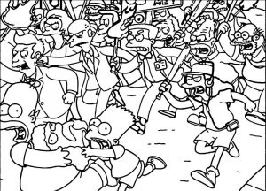 Simpson wallpapers the simpsons run road coloring page
