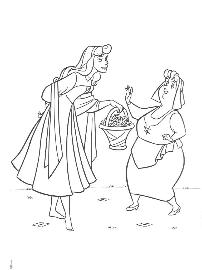 Sleeping Beauty Coloring Pages For Kids