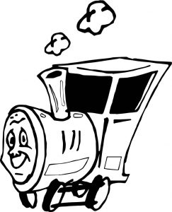 Slow train coloring page