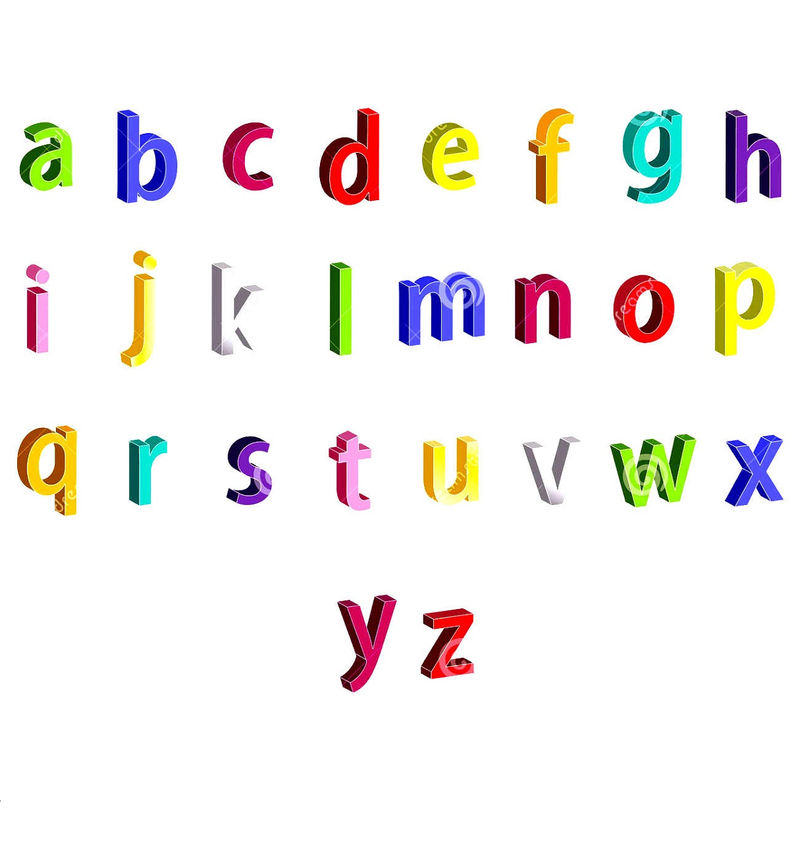 Small Alphabet Letters For Child