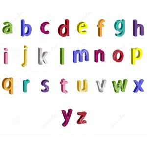 Small alphabet letters for kids 001