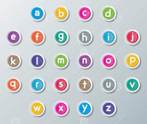 Small alphabet letters to learn 001
