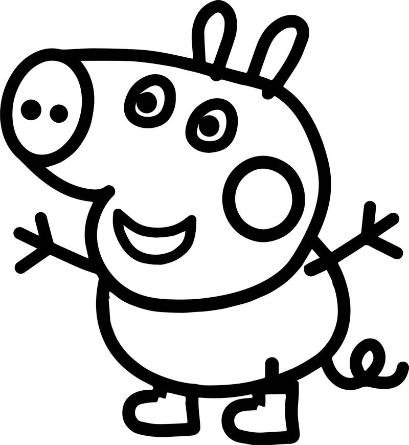 Small Baby Peppa Pig Coloring Page