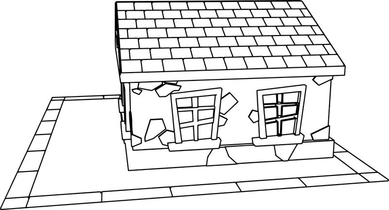 Small Cartoon House Coloring Page