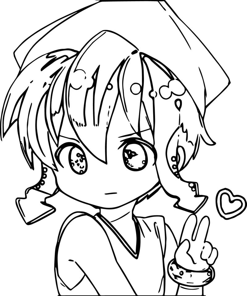 Small Squid Girl Coloring Page