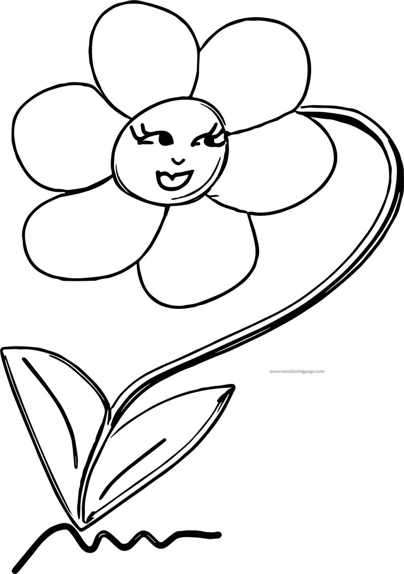 Smile Flower Coloring Page