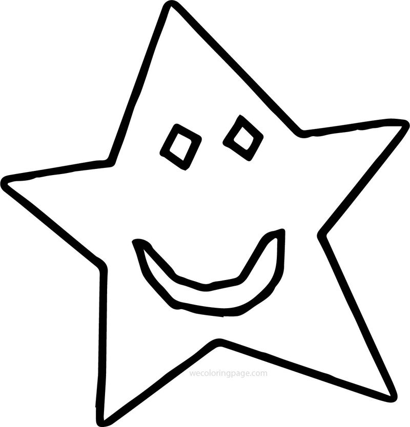 Smile Star Coloring Page