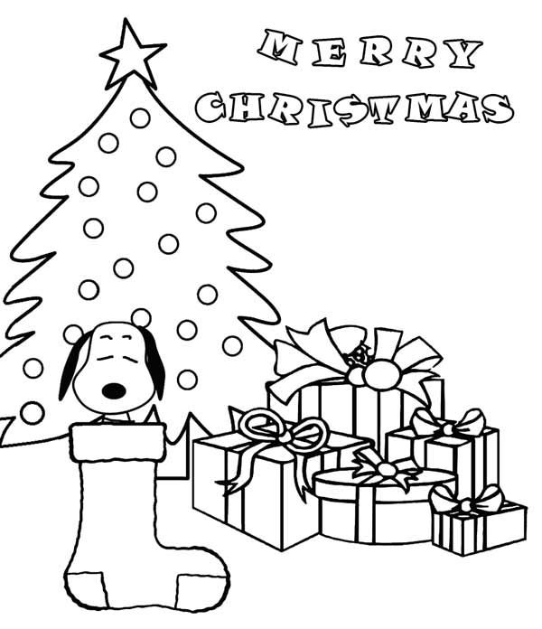 Snoopy Christmas Coloring Pages 001