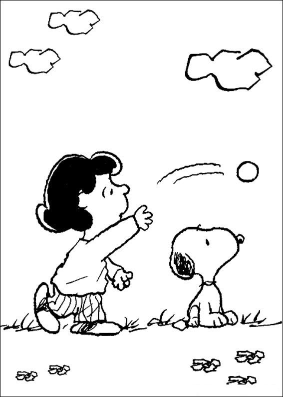 Snoopy Coloring Pages For Kids