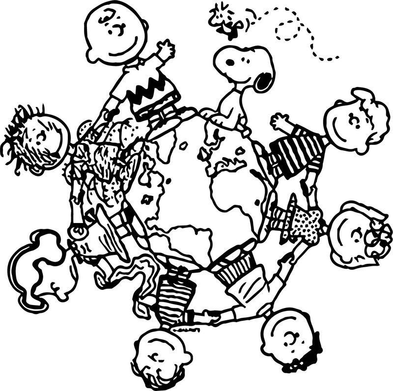Snoopy London Characters Coloring Page