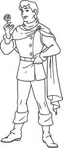 Snow white and the prince rose coloring page