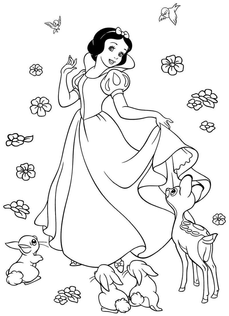 Snow White Color Pages New