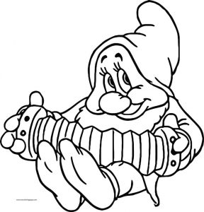 Snow white disney bashful coloring page 11