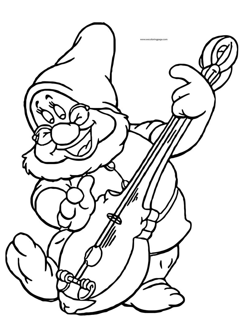Snow White Disney Doc Coloring Page 03