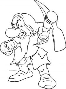 Snow white disney grumpy coloring page 13