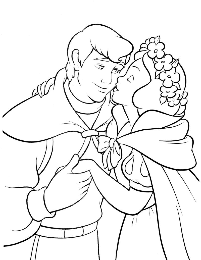 Snow White Someday Coloring Page 001