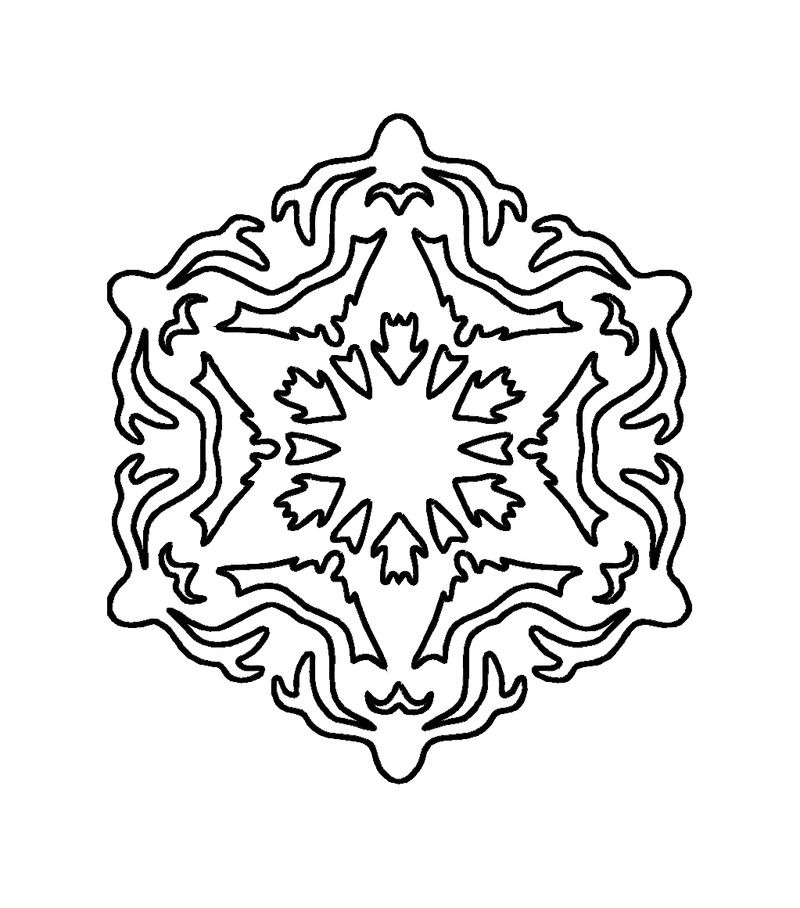 Snowflake Coloring Pages For Kids - Coloring Sheets