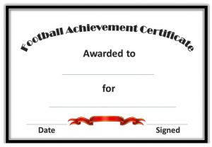 Soccer award certificates simple