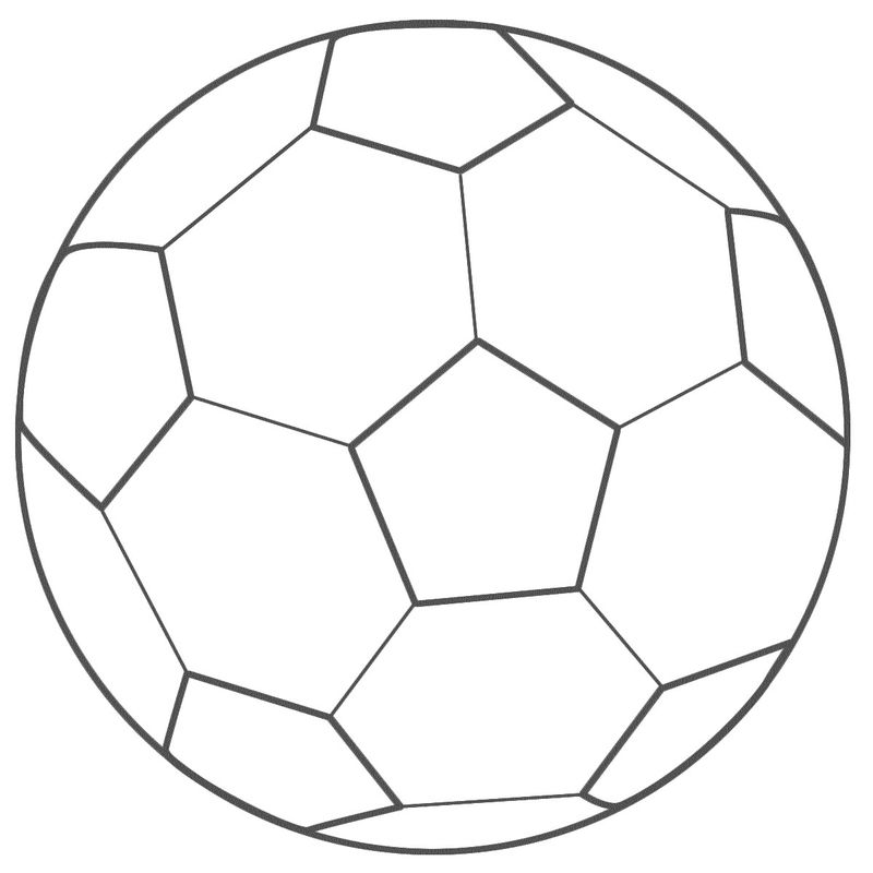 Soccer Ball Coloring Page 001