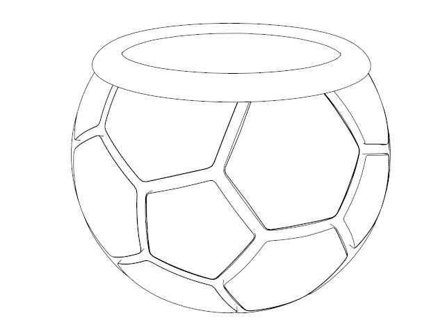 Soccer Ball Cup Coloring Page