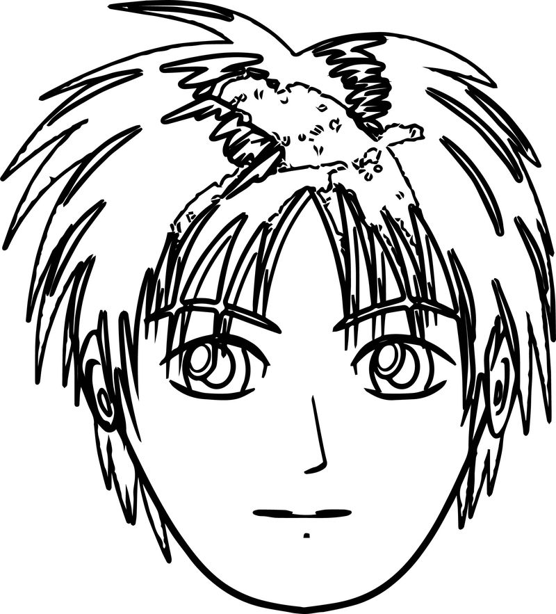 Soccer Boy Face Coloring Pages