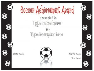 Soccer certificate templates black
