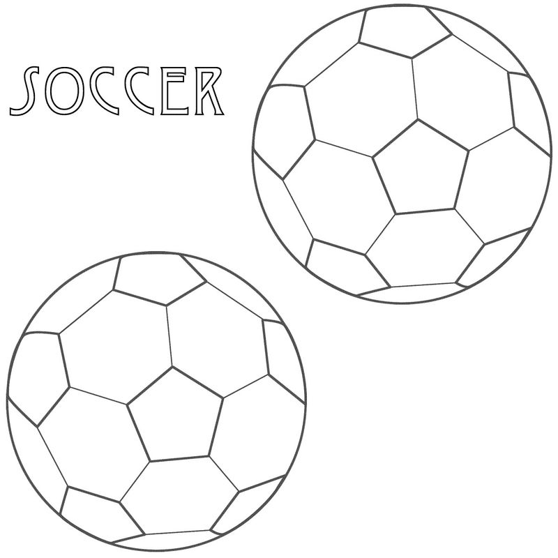 Soccer Coloring Page 001