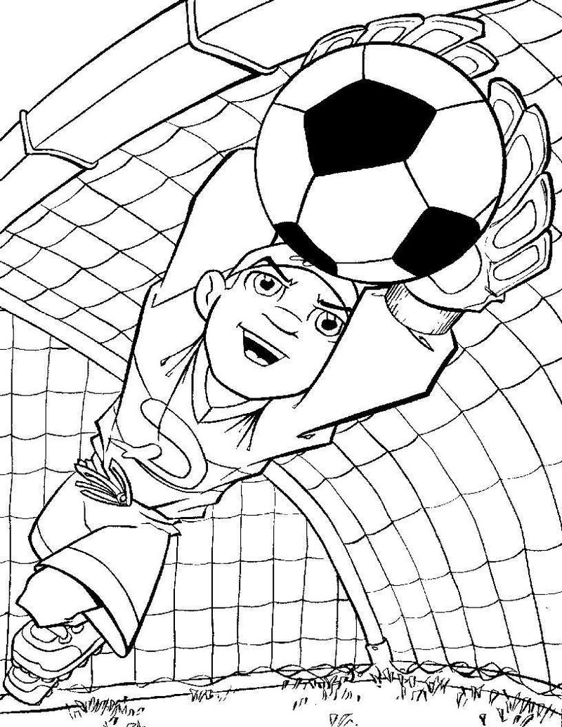 Soccer Coloring Pages For Kids 001