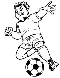 Soccer coloring pages print 001
