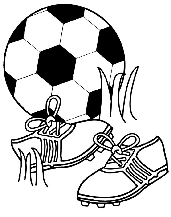 Soccer Coloring Pages Printable 001