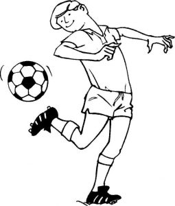 Soccer coloring pages to print 001