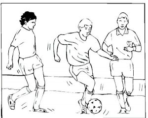 Soccer team coloring page printable