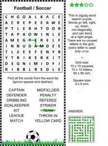 Soccer word search 2016