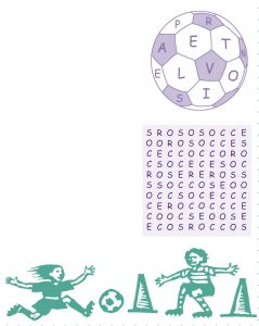 Soccer word search spring