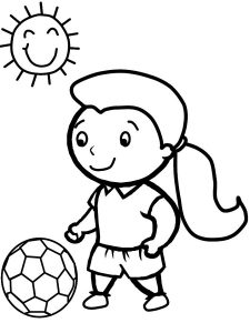 Soccer worksheets for kids girls
