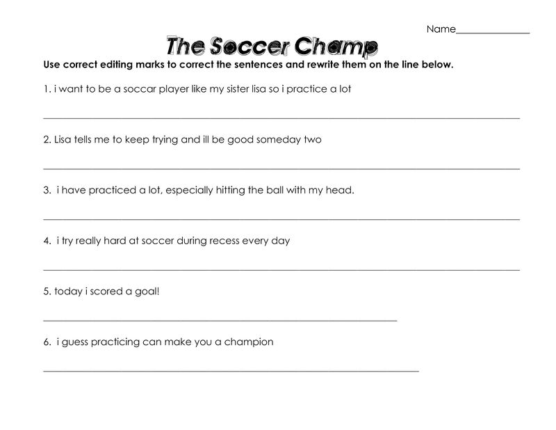Soccer Worksheets For Kids Page 001