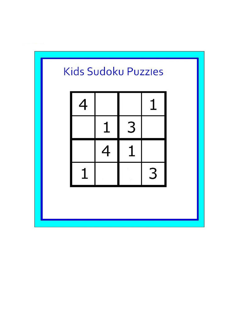 Soduko For Kids Page