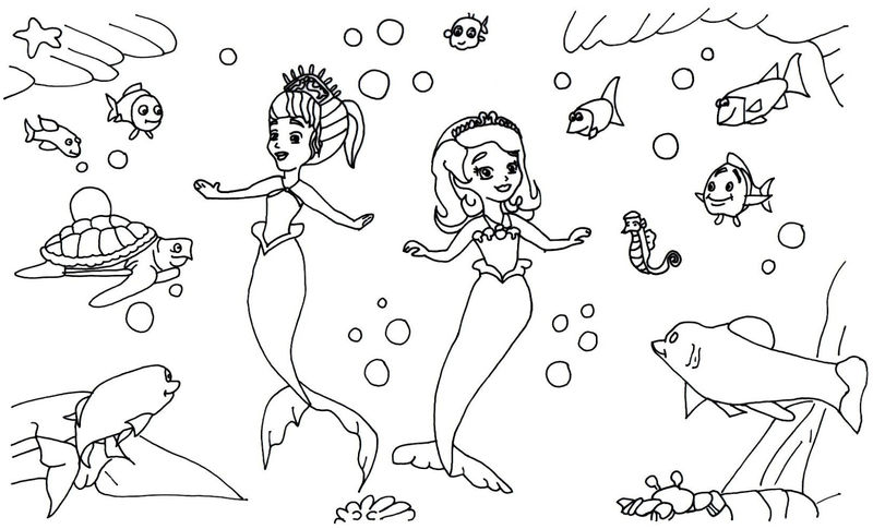 Sofia The First Mermaid Coloring Pages 001