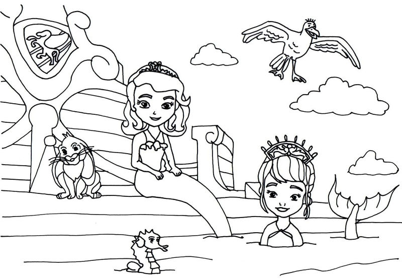 Sofia The First Mermaid Coloring Pages 1 001