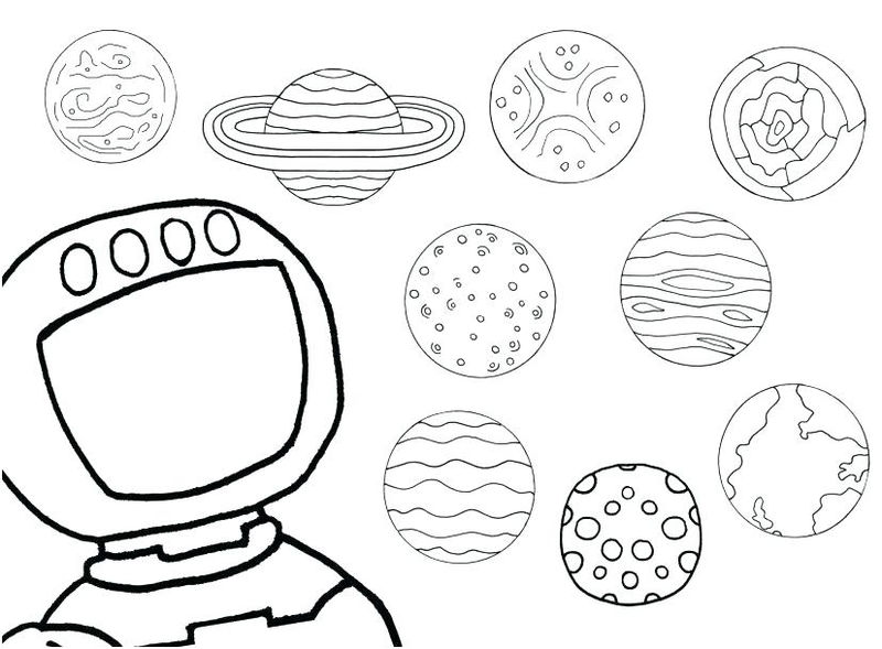 Solar System Coloring Page For Kids