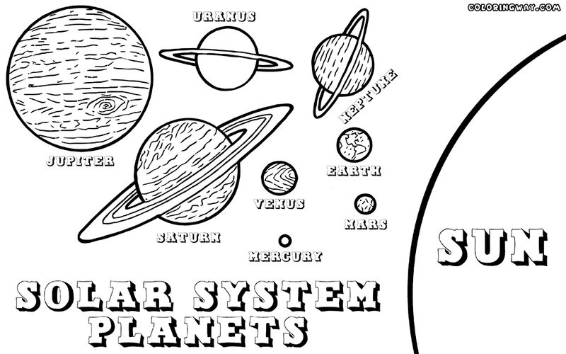 Solar System Planets Coloring Page 1