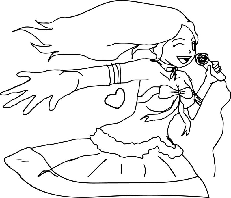 Song Girl Coloring Page