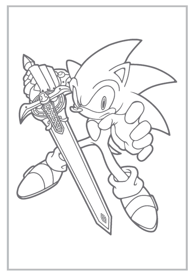 Sonic Boom Coloring Pages Activity