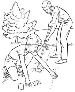 Sowing garden coloring pages 001