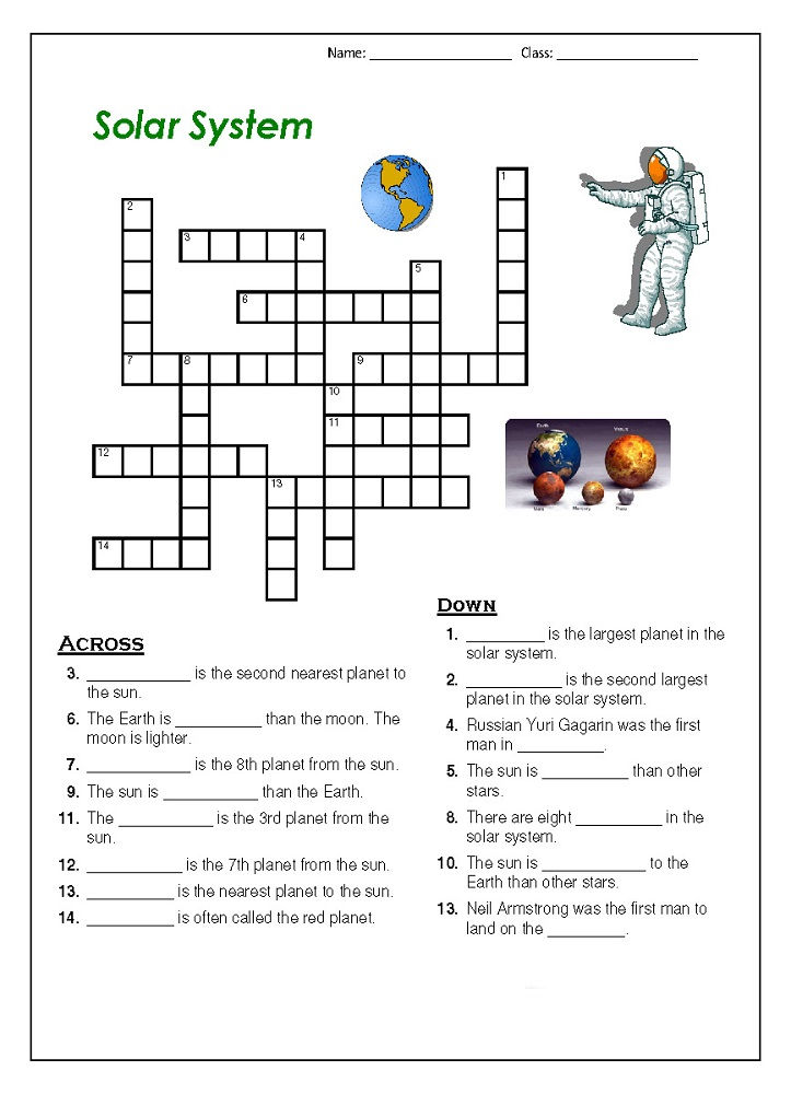 Space Puzzles For Kids Printable